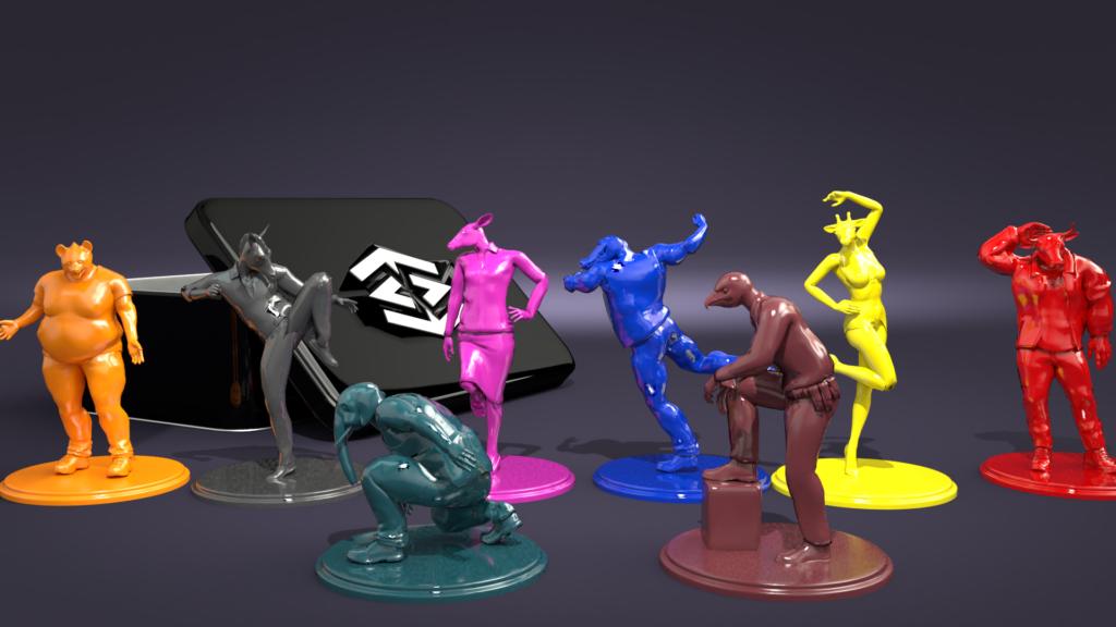 3D Figures custom Color Hybrid Instinct